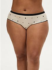 Super Soft Mini Skull Charm Beige Hipster Panty, ROSE DUST, hi-res