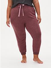 Classic Fit Crop Sleep Jogger - Super Soft Plush Walnut, ROSE BROWN, alternate