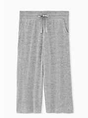 Super Soft Plush Grey Wide Leg Sleep Pant, GREY, hi-res