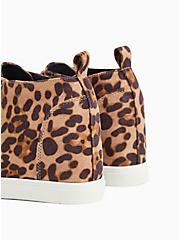 Leopard Faux Suede High-Top Wedge Sneaker (WW), ANIMAL, alternate
