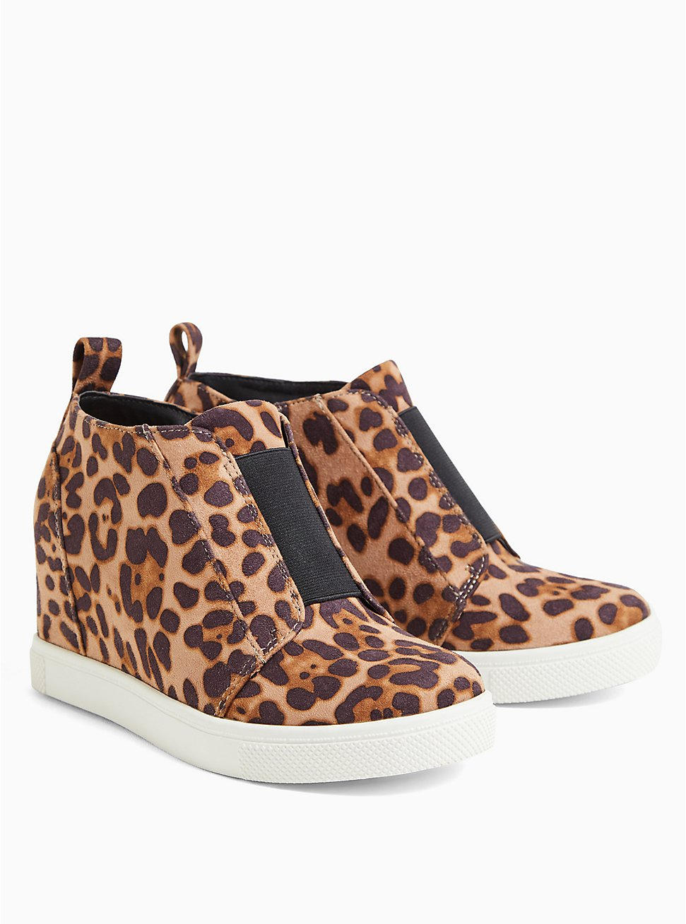 Leopard Faux Suede High-Top Wedge Sneaker (WW), ANIMAL, hi-res