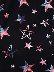 Super Soft Black & Multi Star Button Front Sleep Shirt, MULTI, alternate