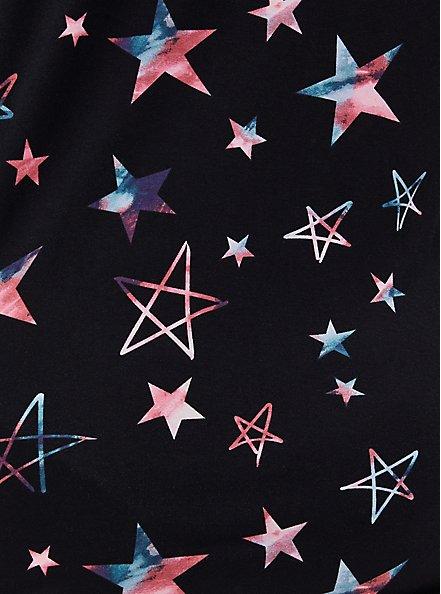 Super Soft Black & Multi Star Sleep Short, MULTI, alternate