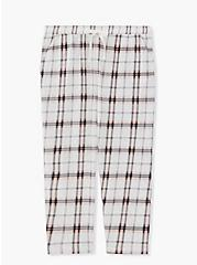 White & Pink Plaid Crop Sleep Pant, MULTI, hi-res