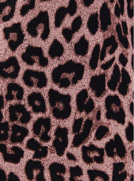 Super Soft Leopard Button Front Sleep Shirt, MULTI, alternate