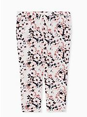 White Floral Crop Sleep Pant, MULTI, hi-res