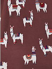 Super Soft Walnut Llama Sleep Shirt, MULTI, alternate
