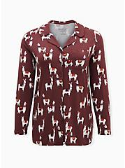 Super Soft Walnut Llama Sleep Shirt, MULTI, hi-res