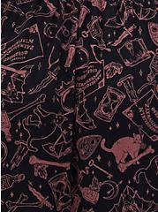 Super Soft Black Cat Lace Inset Sleep Chemise, MULTI, alternate