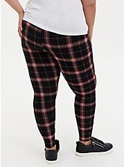 Premium Leggings - Plaid Black & Red, MULTI, alternate
