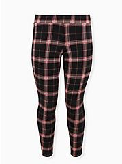 Premium Leggings - Plaid Black & Red, MULTI, hi-res