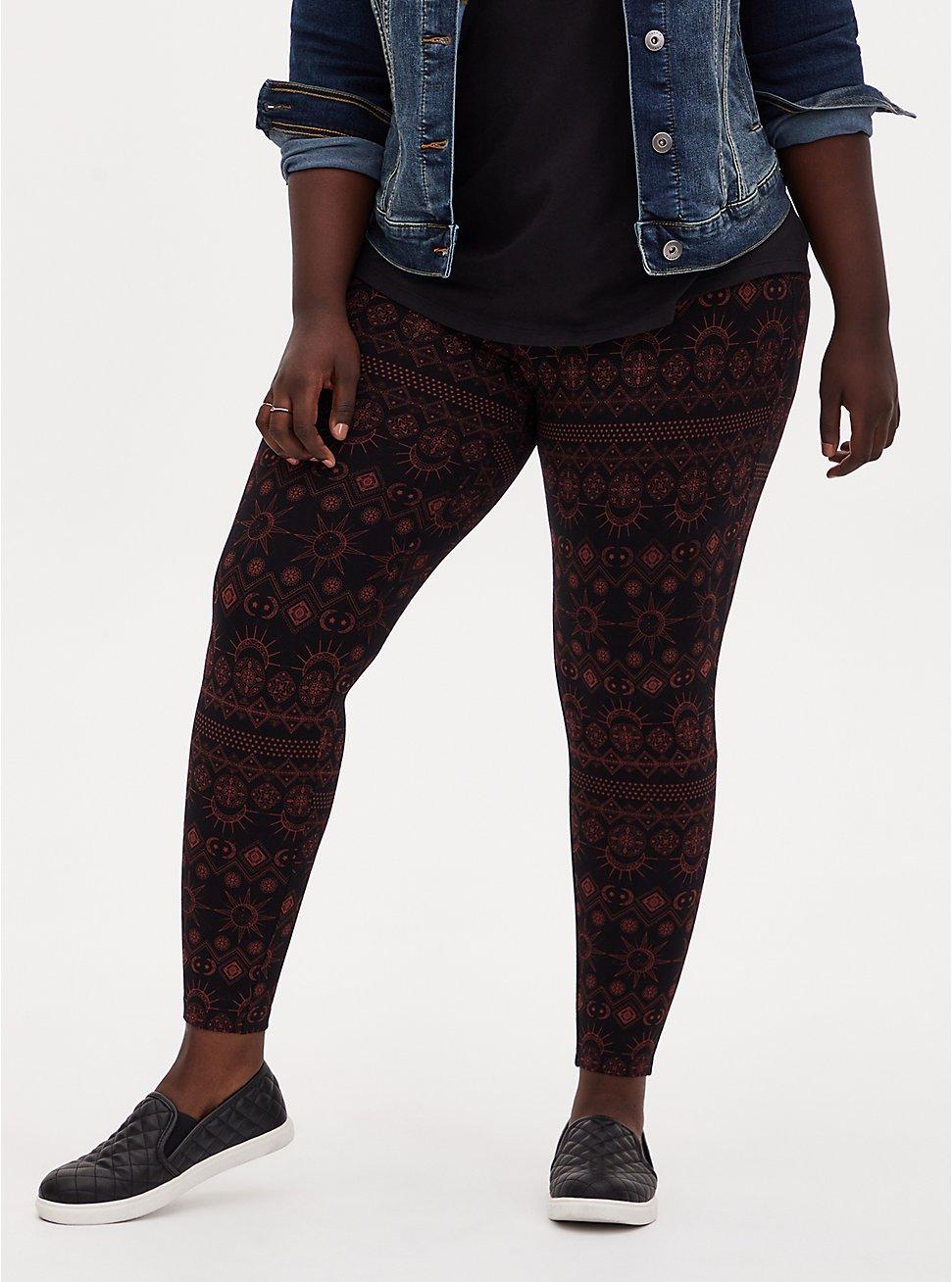Premium Legging - Eclipse Red & Black , MULTI, hi-res