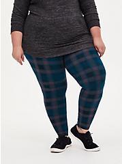 Premium Legging - Plaid Teal, MULTI, alternate