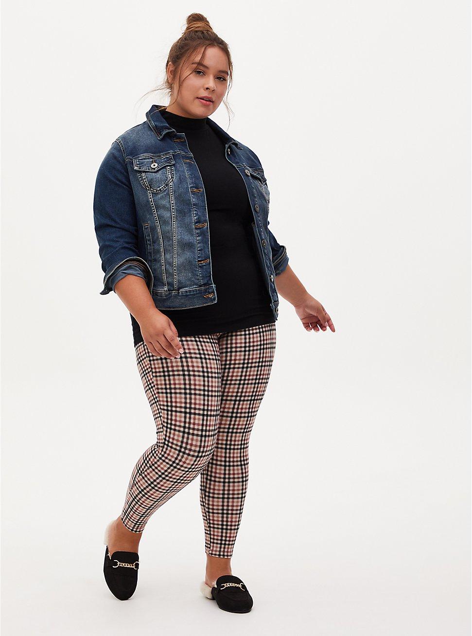Premium Legging - Gingham Grey, MULTI, hi-res