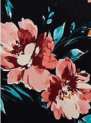 Super Soft Black Floral Crochet Lace Babydoll Top, DEEP BLACK, alternate