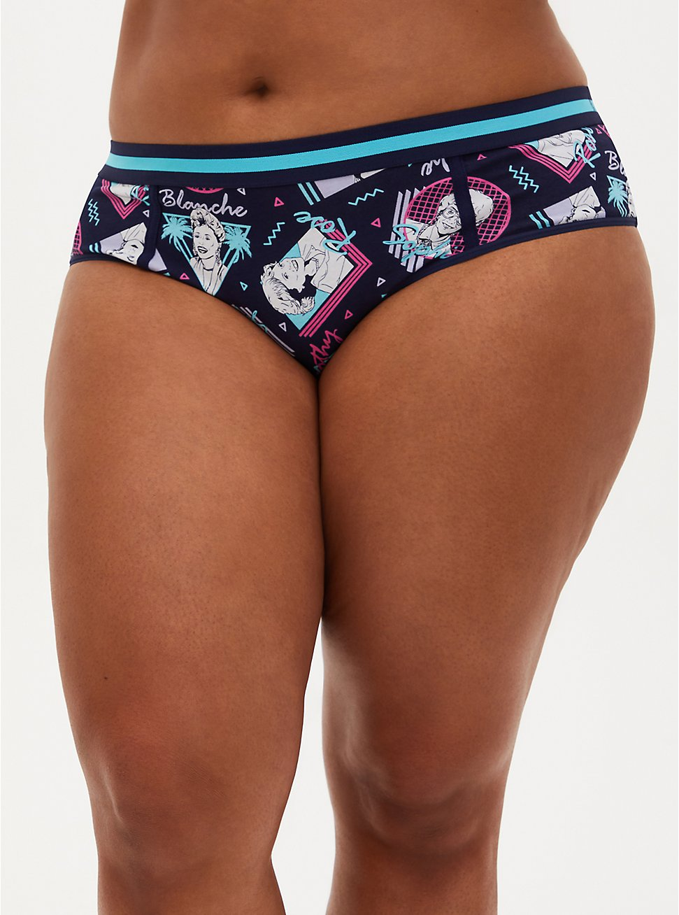 The Golden Girls Navy Cotton Hipster Panty, MULTI, hi-res