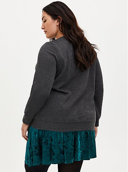 Plus Size National Lampoon's Griswold Family Christmas Charcoal Grey Sweatshirt, CHARCOAL  GREY, alternate
