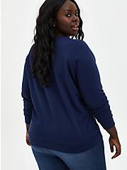 Grey's Anatomy Navy Crew Sweatshirt, PEACOAT, alternate