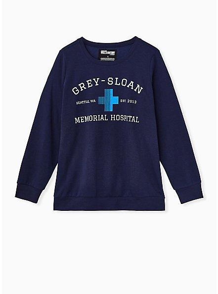 Grey's Anatomy Navy Crew Sweatshirt, PEACOAT, hi-res