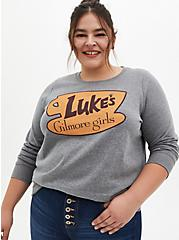 Gilmore Girls Luke's Diner Heather Grey Sweatshirt, MEDIUM HEATHER GREY, hi-res