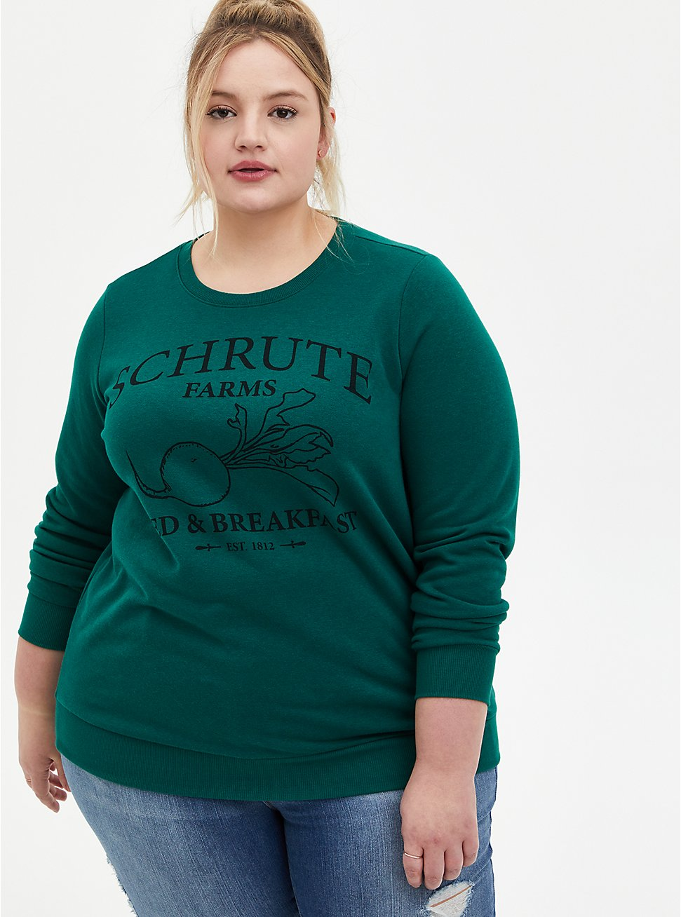 The Office Schrute Farms Green Sweatshirt, , hi-res