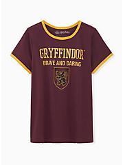 Harry Potter Gryffindor Burgundy Purple Classic Fit Ringer Tee, WINETASTING, hi-res
