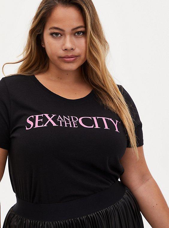 Sex And The City Slim Fit Crew Tee - Black, , hi-res