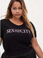 Sex And The City Slim Fit Crew Tee - Black, DEEP BLACK, hi-res