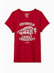 Griswold Family Christmas Red Slim Fit Graphic Tee, JESTER RED, hi-res