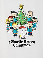 Peanuts Christmas White Classic Fit Ringer Tee, BRIGHT WHITE, alternate