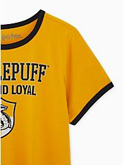 Harry Potter Hufflepuff Yellow Classic Fit Ringer Tee, , alternate