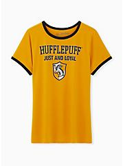 Harry Potter Hufflepuff Yellow Classic Fit Ringer Tee, , hi-res