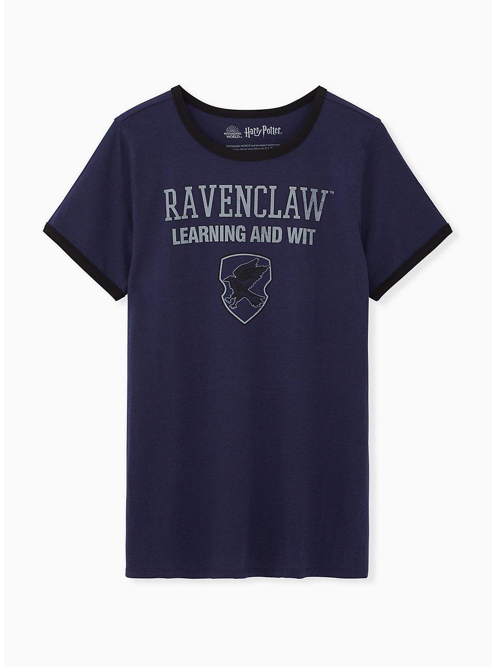 Harry Potter Ravenclaw Blue Classic Fit Ringer Tee, , hi-res