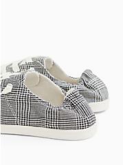 Riley - Plaid Ruched Sneaker (WW), BLACK  WHITE, alternate