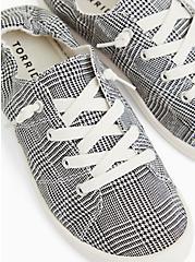 Riley - Plaid Ruched Sneaker (WW), BLACK  WHITE, hi-res