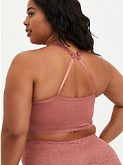 4-Way Stretch Racerback Bralette - Lace Pink, WITHERED ROSE PINK, alternate
