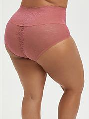 Pale Pink 4-Way Stretch Lace Brief Panty, ROSE DUST, alternate