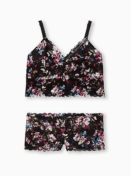 Black Floral Lace Bralette, REGAL FLORAL, alternate