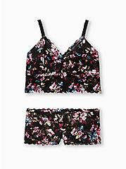 Black Floral Lace Bralette, REGAL FLORAL, alternate