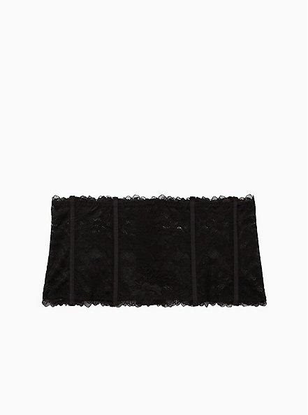 Black Chantilly Lace Waist Cincher, RICH BLACK, hi-res