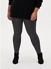 Platinum Legging - Sweater Knit Shimmer Black , BLACK, alternate