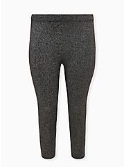 Platinum Legging - Sweater Knit Shimmer Black , BLACK, hi-res