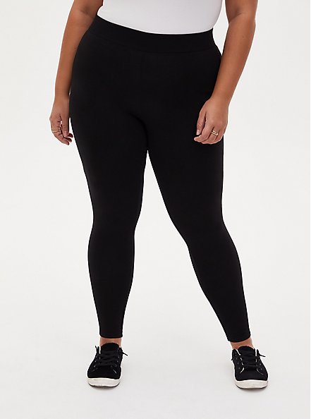 Premium Legging Ribbed Waist - Black, BLACK, alternate