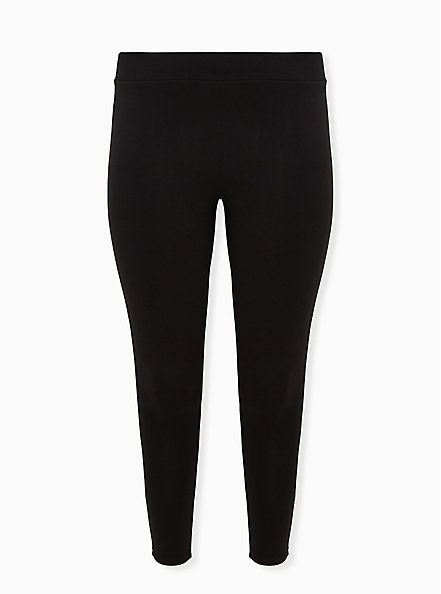 Premium Legging Ribbed Waist - Black, BLACK, hi-res