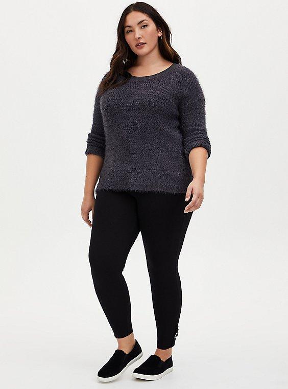 Premium Legging - Buckle Cuff Black, BLACK, hi-res