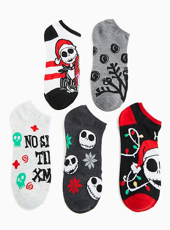 Disney The Nightmare Before Christmas Holiday Ankle Socks Pack - Pack of 5, MULTI, hi-res