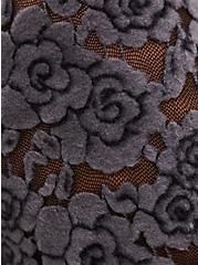Lace Skater Dress - Super Soft Plush Charcoal Grey , CHARCOAL, alternate