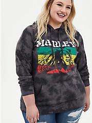 Bob Marley Black Grey Wash Hoodie, DEEP BLACK, hi-res