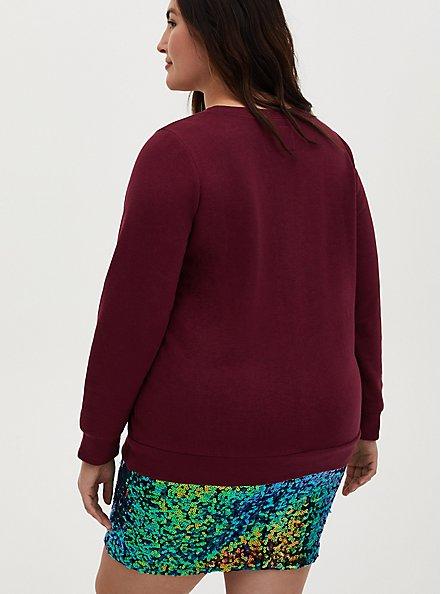 Nirvana Unplugged Red Mineral Wash Fleece Sweatshirt, JESTER RED, alternate