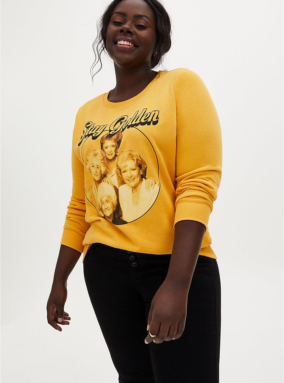 Plus Size The Golden Girls Golden Yellow Fleece Sweatshirt, , hi-res
